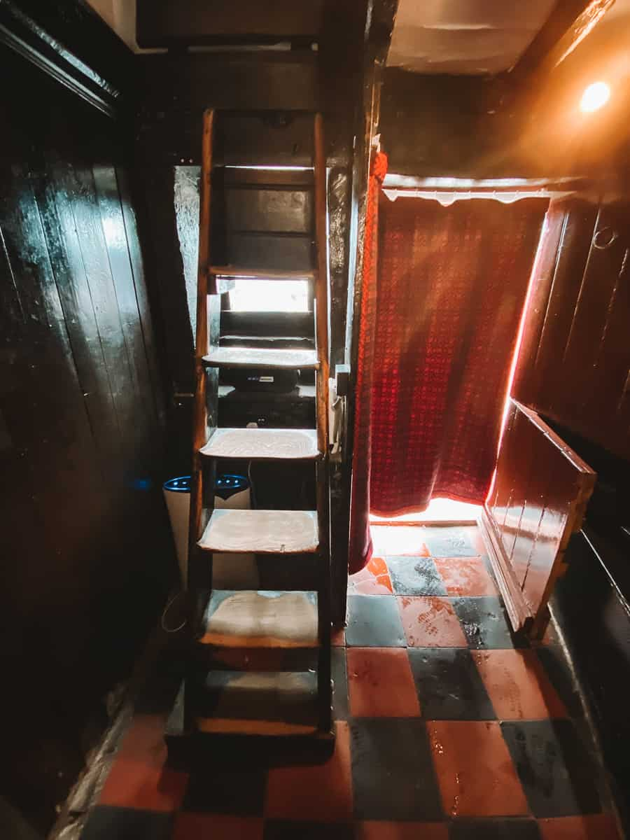 Stairs inside the Smallest House in Britain