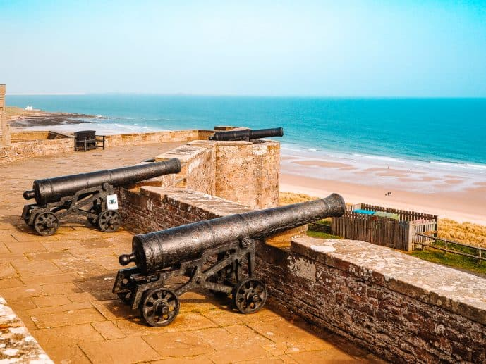 Bamburgh Castle Cannons