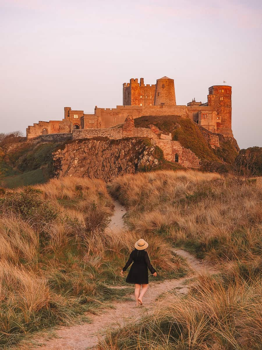 Bebbanburg Bamburgh Dunes view of the Castle