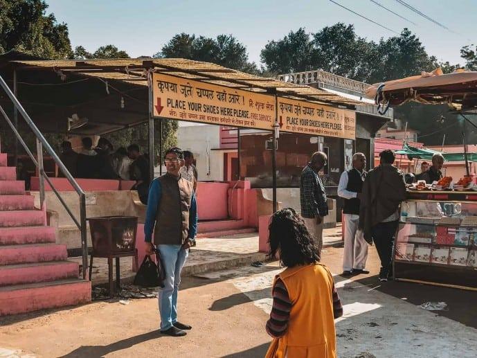 Shoe counter at Karni Mata Temple