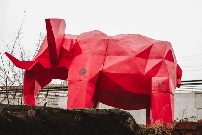 Pink Elephant Kiemo Galerija