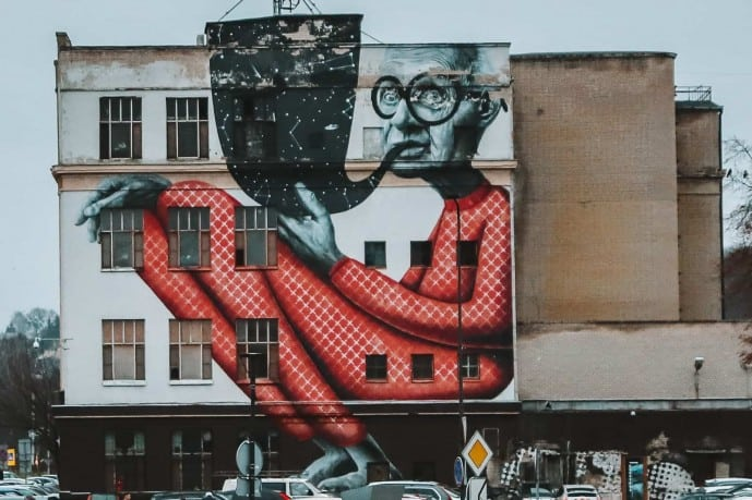 Wise Old Man Kaunas | Street Art in Kaunas