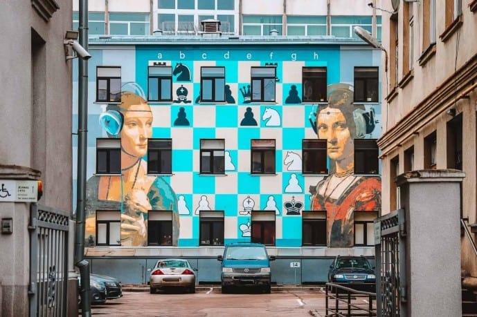Contemporary Ladies Street Art Kaunas