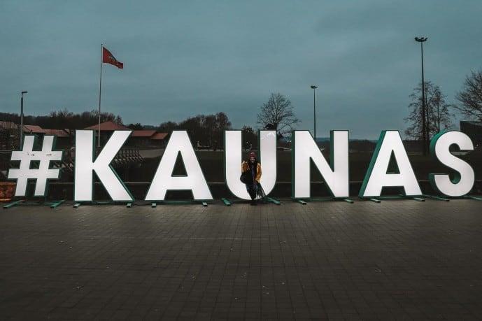 #Kaunas Sign Outside Kaunas Castle