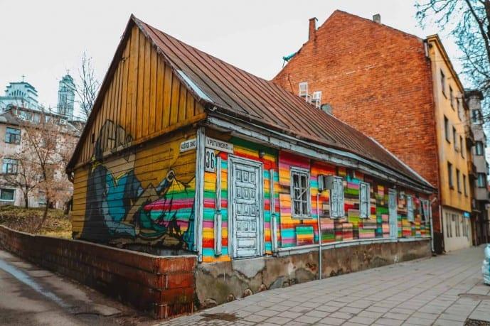 Rainbow Cabin Kaunas | Street Art In Kaunas