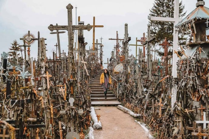 How to get to the Hill of Crosses from Vilnius Lithuania