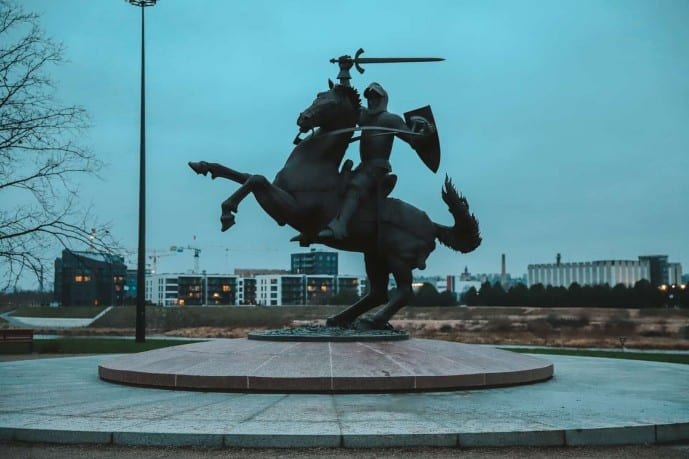The Soldier of Freedom statue Kaunas Castle