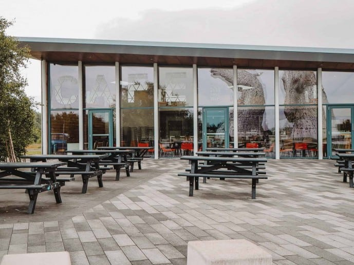 Helix visitor centre at the kelpies