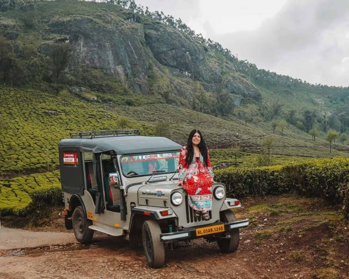 Jeep in Munnar | Kerala Itinerary | Tea Plantations in Munnar
