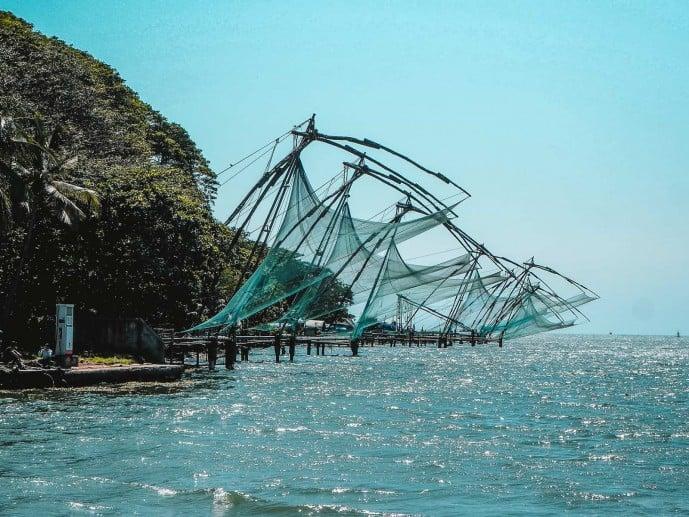 Chinese fishing nets in Fort Kochi