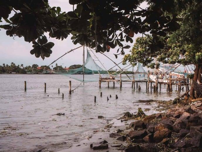 Chinese fishing nets Vasco de Gama Square