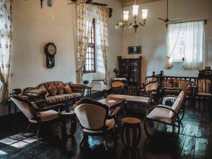The living room in Delight Homestay