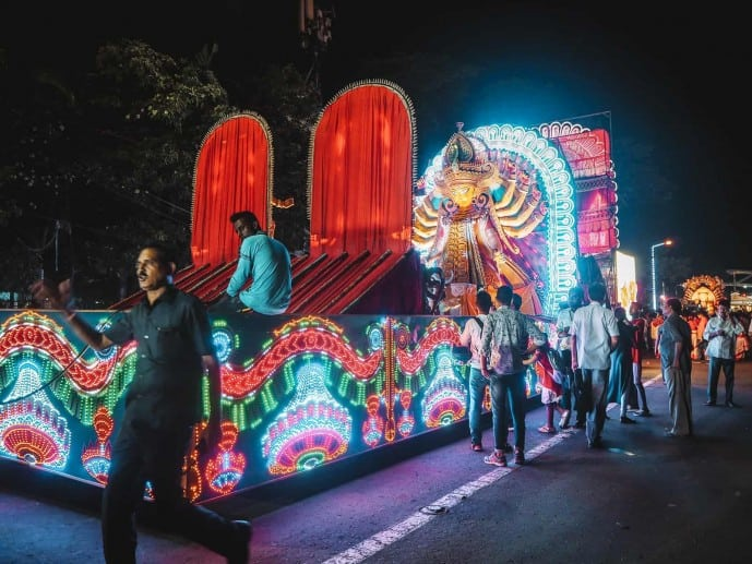 Durga Puja Parade in Kokata