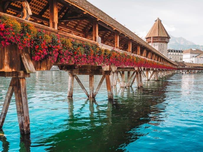 Chapel Bridge in Lucerne Kapellbrucke