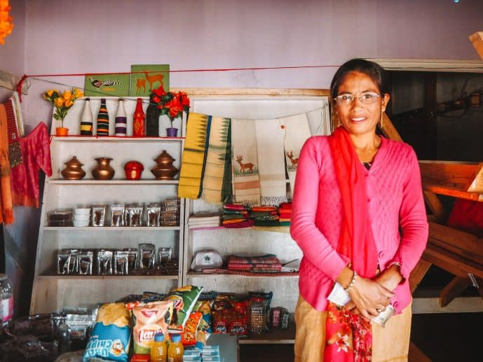 Lady of the Women's Initiative for Sangai Conservation WISC
