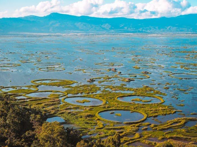 Loktak Lake Manipur Phumdi Rings