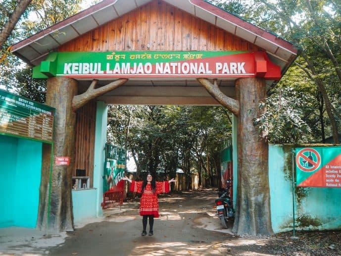 Keibul Lamjao National Park entrance gate