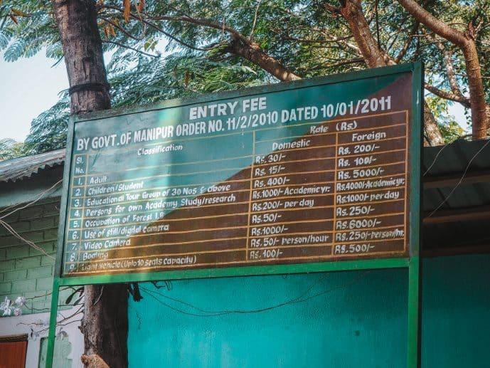Entry fees for Keibul Lamjao National Park