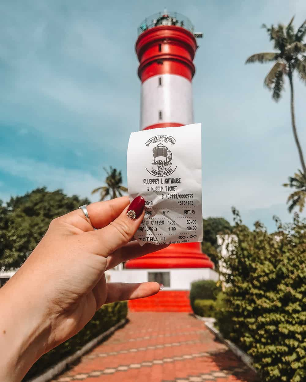 Alappuzha lighthouse ticket price
