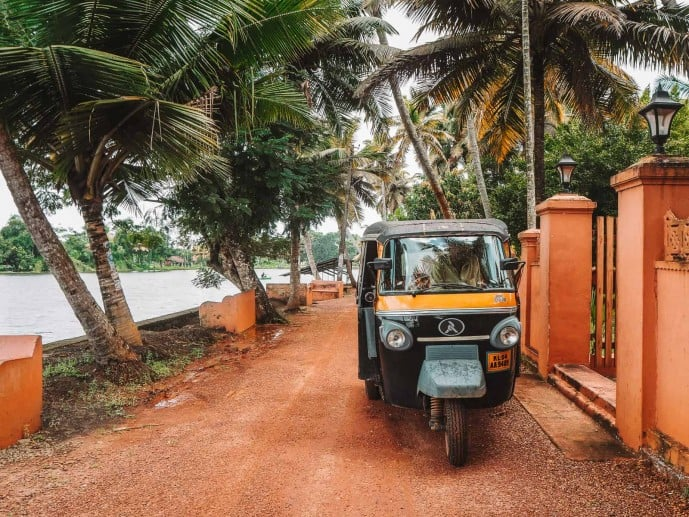 Auto rickshaw alleppey backwaters