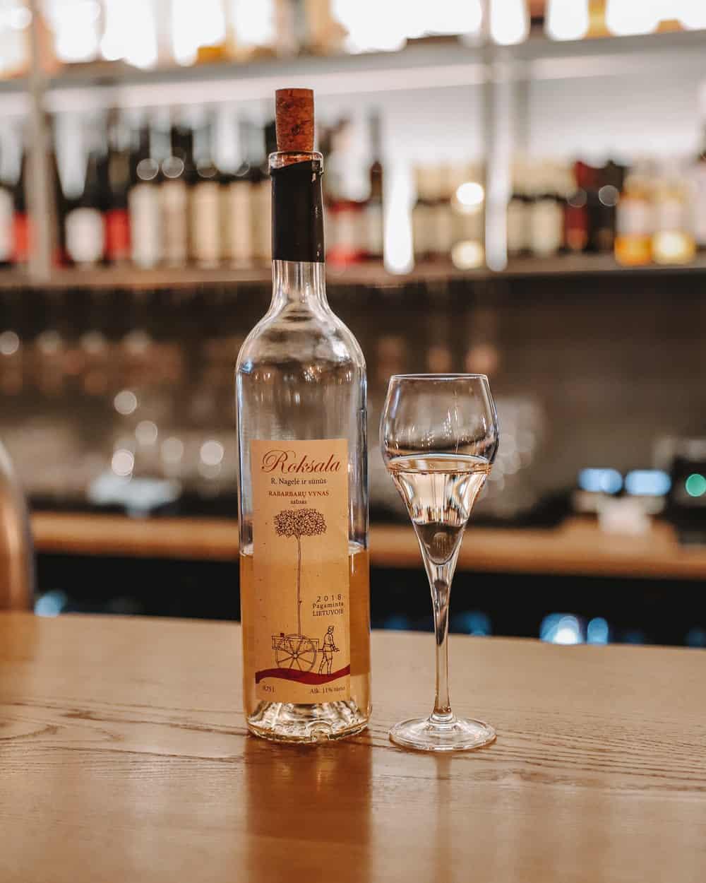 Rhubarb Wine in Vilnius