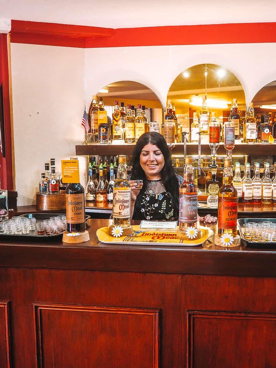 Lindisfarne Mead Tasting at St Aidans Winery on Holy Island Northumberland