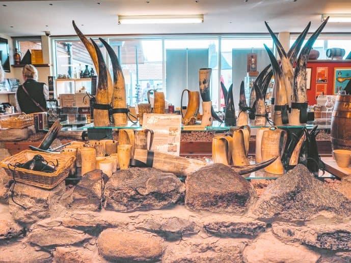 Viking Horns at St Aidans Winery Holy Island
