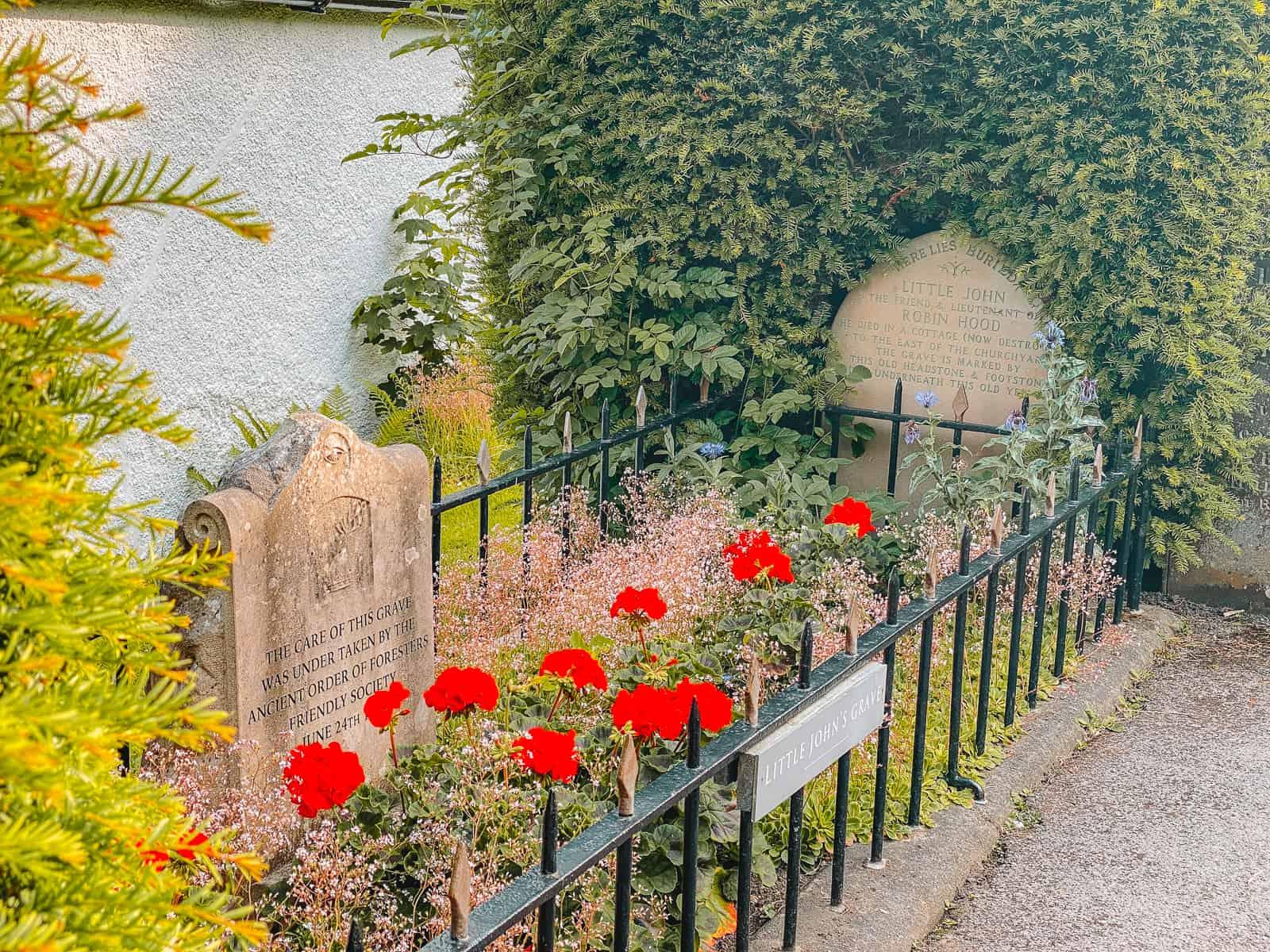Little John's Grave Hathersage Peak District