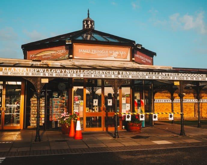 James Pringle Weavers shop in Llanfair Anglesey