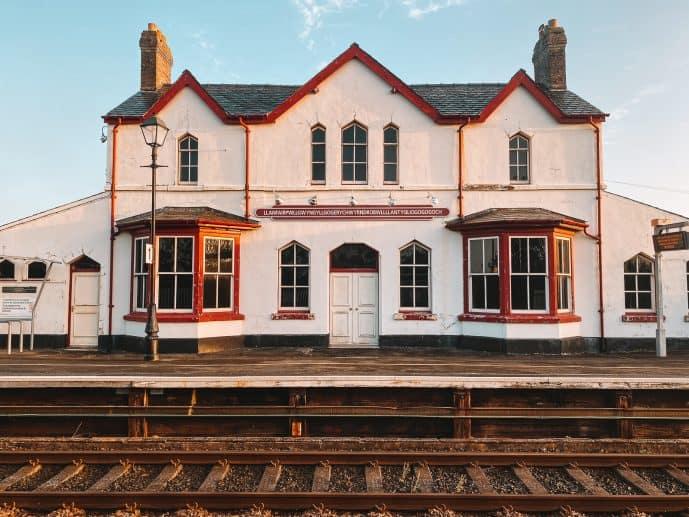 Llanfair PG Longest Place Name in Wales Railway station sign