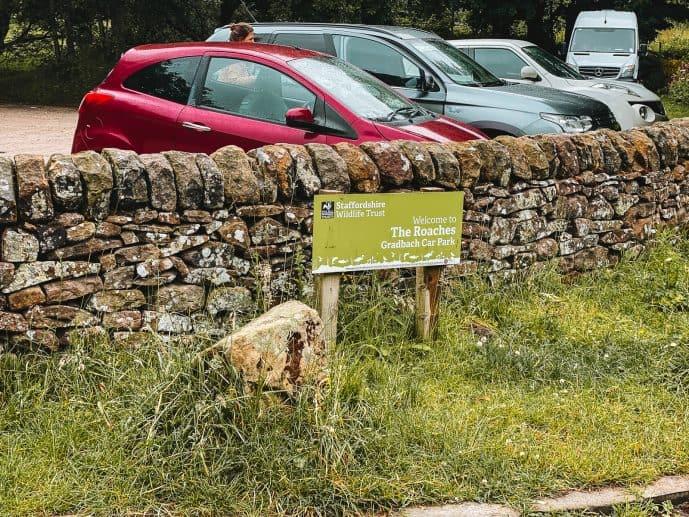 Where to park for Lud's Church The Roaches Gradbach Car Park