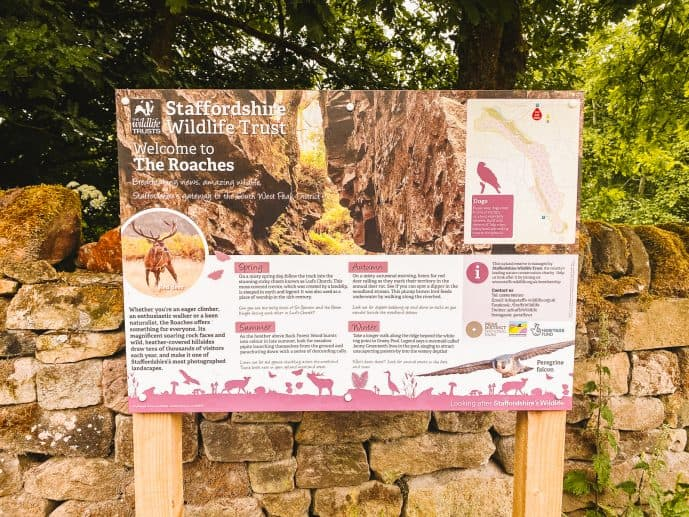 The Roaches information sign
