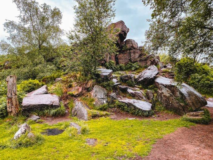 Rocky Outcrop Gradbach Wood Black Forest Lud's Church walk