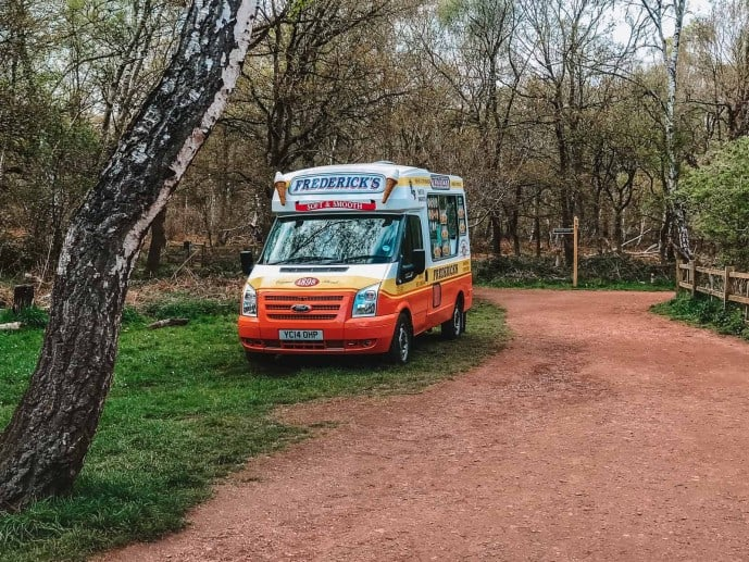 The Ice Cream Van at the Major Oak