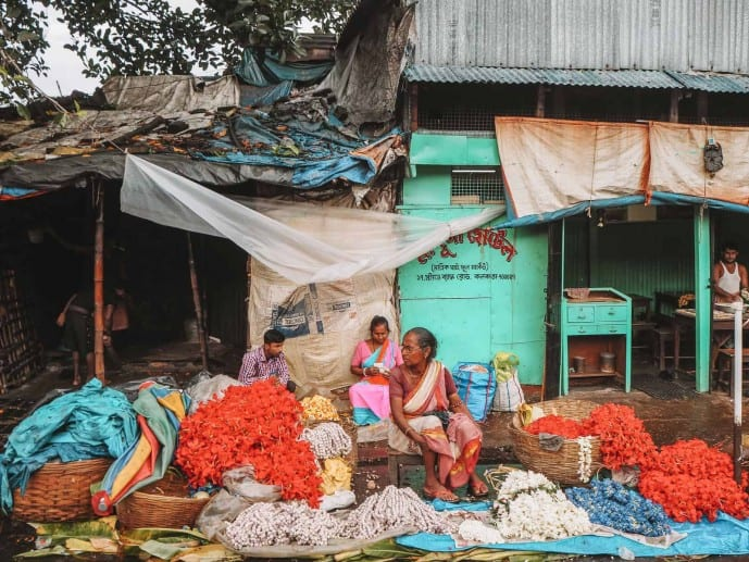 Mallick Ghat Flower Market Kolkata