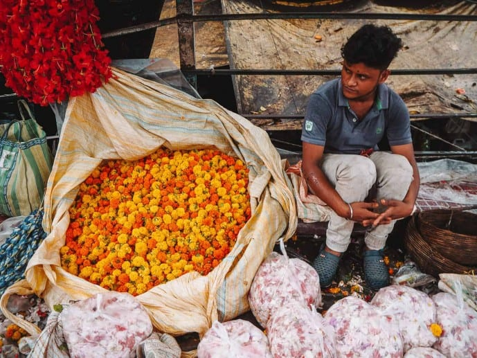 Asia's biggest flower market