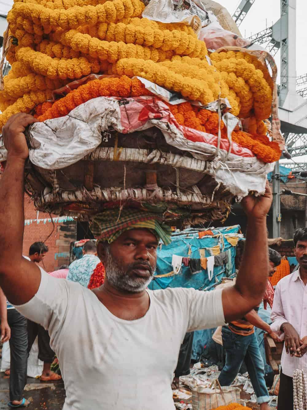 Kolkata flower market