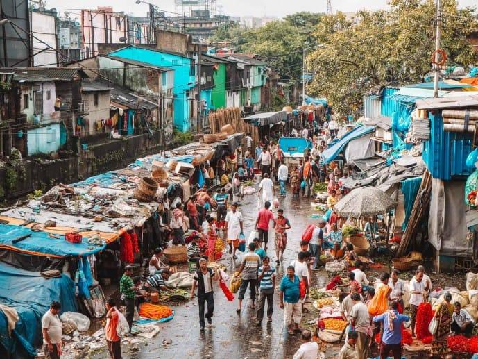 Mallick Ghat Flower Market in Kolkata