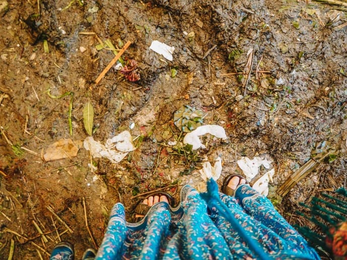 Mud at Mullick Ghat | What to wear at Mallick Ghat market