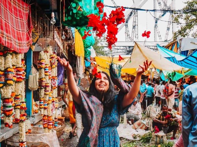 Mallick Ghat Flower Market Kolkata Calcutta