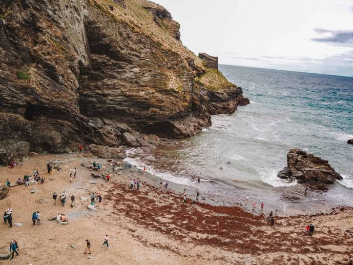 Tintagel Beach at Low tide