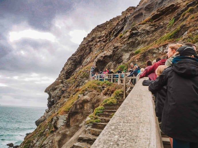 Tintagel Castle Steps