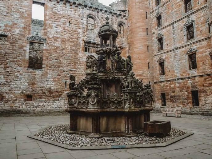 Fountain at Linlithgow Palace