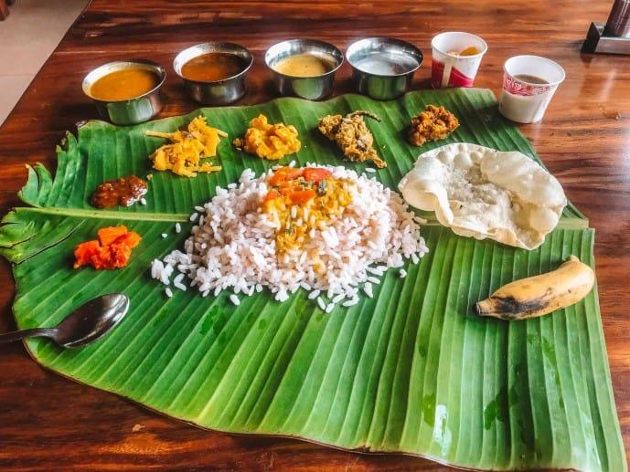 Kerala thali | Things to do in Munnar