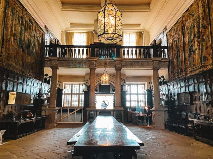 Inside Malfoy Manor Hardwick Hall filming location