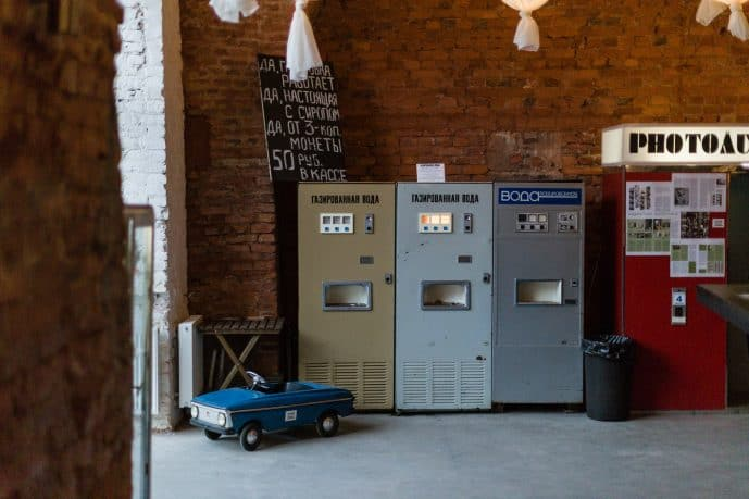 MoSAM in St.Petersburg Soda water machines