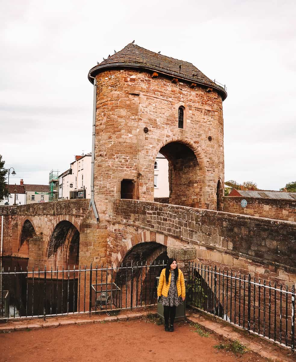The Monnow Bridge in Monmouth Wales