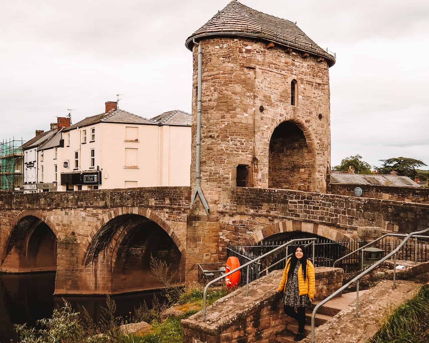 Monnow Bridge and Gate Monmouth Wye Valley Wales