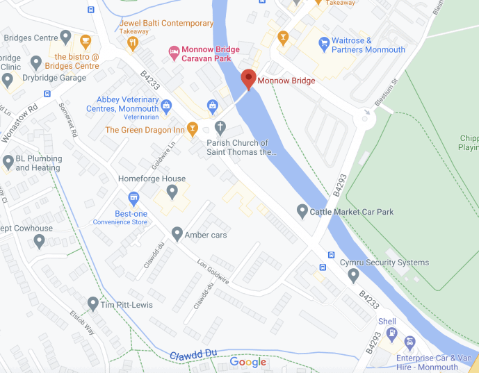 Monnow Bridge location