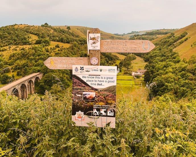 Monsal Trail Walking Signs